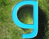 Industrial Salvage Vintage Metal Wall Letter g or a