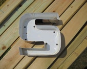 Vintage Metal Letter - S - Industrial Salvage Channel Letter