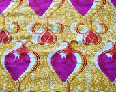 Hearts - African Wax fabric-The genuine one