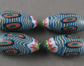 Multi Colored Polymer Clay Beads - 4