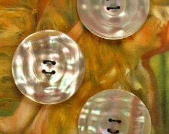 Vintage Carved Shell Button Set - 5
