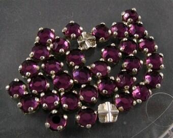Vintage Rose Montee -  Purple Glass