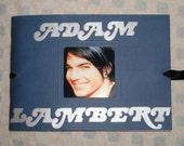 Adam Lambert American Idol 5 x 7 scrapbook