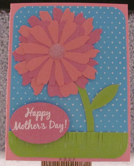 Happy Mother's Day Big Floral A2 Card Mother's Mom Mommy Floral Card