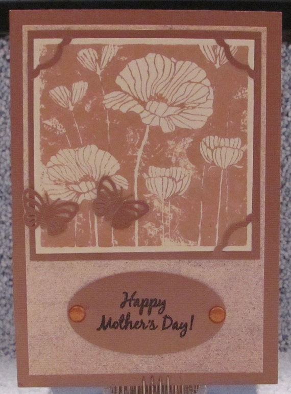 Happy Mother's Day Bronze Butterfly A7 Card Mom's Mother Mommy Card Butterflies