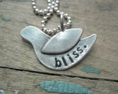 Personalized sterling silver 'bliss' necklace