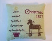 DIGITAL PATTERN Feather Tree, Horse Pull Toy Christmas 1877 Cross Stitch Machine Embroidery Digital File Sent via email