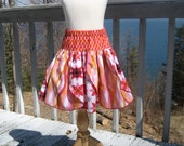 Girls and Toddler Petal Skirt, Girls Skirts, Twirly Skirt, Toddler Skirts, Childrens Clothing, Red skirt, sizes 2T, 3T, 4, 5, 6, 7, 8, 9/10