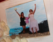 RESERVED For Deana  (2) Custom Embellished Photographs / BFF's in Maui xo / Balance Due