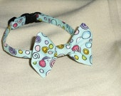 Robin Egg Blue Bow Tie Collar for Cats
