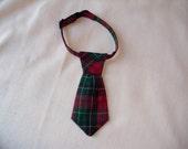 Tartan Necktie for Cats
