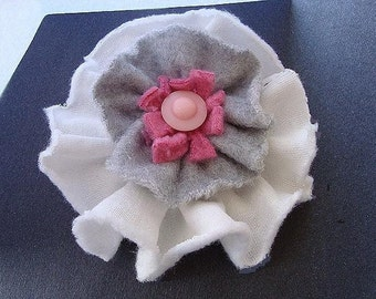 FF22  Pattern - Tutorial - Ruffled Fleece Rose, No Sewing Machine Required  so easy to make them any size - Instant Download