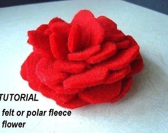 FF13  FLOWER  TUTORIAL: Make with felt or polar fleece no sewing machine required - Instant Download