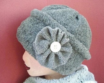 Hat SEWING PATTERN,   Fleece Hat  FF4, Adult size, beginner level - Instant Download