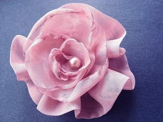 FF12 Lovely Lydia Organza Flower -NO Sewing Machine needed -more flower tutorials in my shop.  - Instant Download