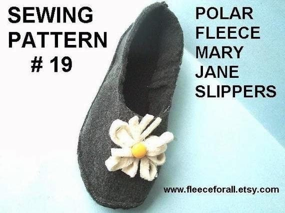 FF19 Mary Jane Slippers PDF Sewing Pattern - Adults sizes- make women's sizes 5 to 11 - Instant Download
