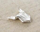 Origami Froggie Necklace