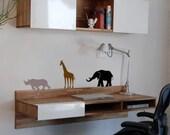 Safari animals, 3 piece set, Vinyl wall art decal