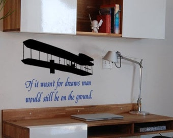 Quote decal-Airplane decal-Quote sticker-Aircraft decal-Wright Brothers decal-24 X 28 inches