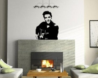 Elvis decal-Elvis wall sticker-Music decal-Vinyl wall decor-Room decor-28 X 35 inches