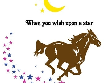 Horse-Horse quote decal-Horse sticker-Vinyl wall decal-40 X 41 inches