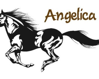 Horse decal-Horse sticker-Personalized decal-Running horse decal-Personalized sticker-20 X 36 inches