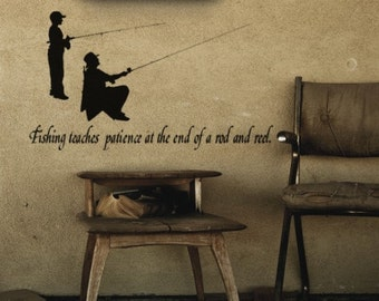 Fishing Quote-Vinyl Wall Decal-39X22 inches-sticker