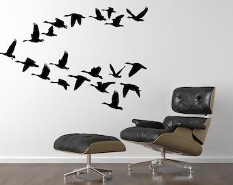 Flying Birds Wall Decor geese wall decor | etsy
