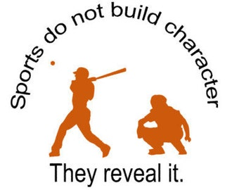 Baseball decal-Baseball sticker-Sports decal-Quote decal-Quote sticker-28 X 25 inches