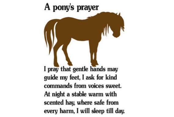 Horse decal, pony quote sticker, girls bedroom decor, teen girls room