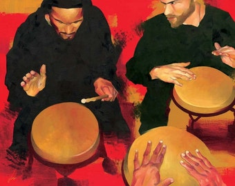 DRUMMERS at BEMBE, BROOKLYN  - Giclee Print - Limited Edition of 5
