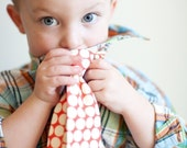 The Beau- red big dot necktie for boys of all ages
