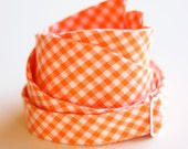 The Beau- men's orange gingham freestyle self-tie bow tie