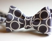 The Beau- men's urban ring dot freestyle bow ties- choose your favorite shade