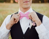 Bow Tie, Bow Ties, Freestyle Bow Ties, Self-Tie Bow Ties, Mens Bow Ties, Bowties, Groomsmen, Groomsmen Bow Ties, Ties - Pink Houndstooth
