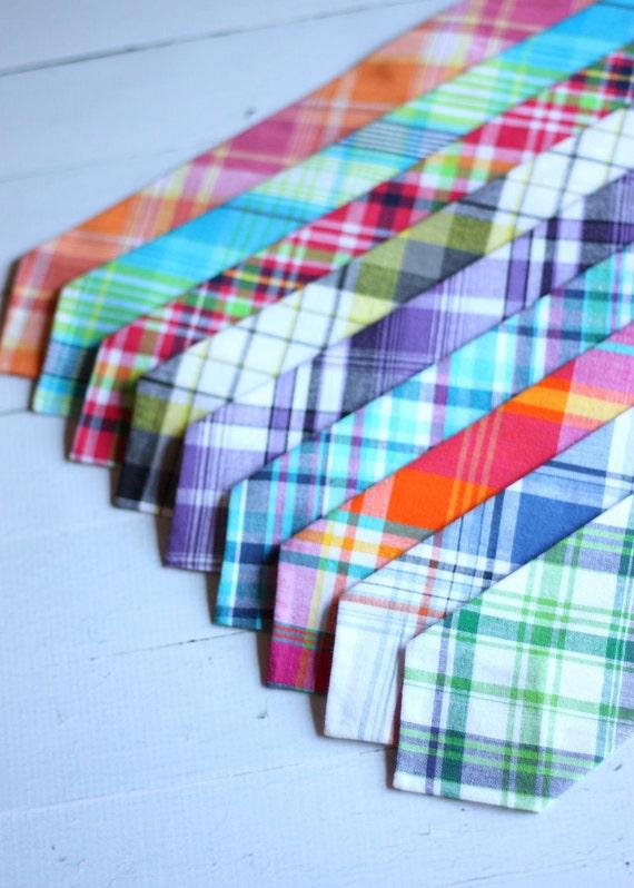 The Beau- preppy plaid collection neckties- choose your favorite print