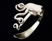 Freeform Silverware Fork Bracelet