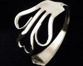 Antique Silver Heart Fork Bracelet - Silverware Jewelry