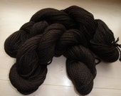 Pure Alpaca Yarn in Bay Black - Very Soft