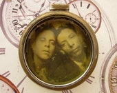 Vintage Watch Case with Vintage Photograph Watch Mixed Media Supply