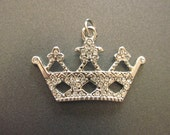 Rhinestone Crown Pendant