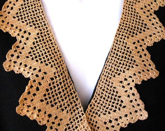 Antique Crochet Lace Trim Handmade Lace Collar Sewing Accessory