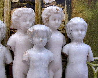 Frozen Charlotte Bisque Doll 3.9-4.3 inches 3 Dolls Antique Porcelain Doll Supply