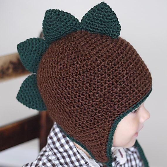 Spiky Dino Earflap Hat Pattern