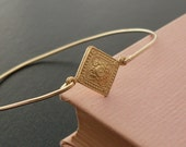 Gold Bracelet Bangle - Maya, Thin Gold Bracelet, Thin Gold Bangle Bracelet, Gypsy Bohemian Bracelet, Medieval Bracelet, Medieval Jewelry