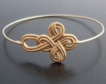 Nautical Knot Bracelet - Gold, Sailor Knot Bracelet, Nautical Knot Bangle, Nautical Knot Jewelry, Sailors Knot Jewelry, Sailor Bracelet Knot