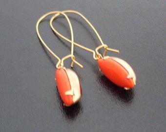 Custom Dangle Earrings - Vintage Glass Cabochon - Choose From Stones in Most of My Bangles in 14.95 Price Range or Under, Custom Earrings