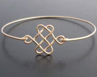 Celtic Knot Bracelet, Celtic Knot Jewelry, Golden Knot Bracelet, Celtic Love Knot Bracelet, Celtic Jewelry, Irish Jewelry, Celtic Bracelet