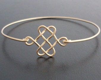 Celtic Knot Bracelet, Celtic Knot Jewelry, Gold Knot Bracelet, Celtic Love Knot Bracelet, Celtic Jewelry, Irish Jewelry, Celtic Bracelet