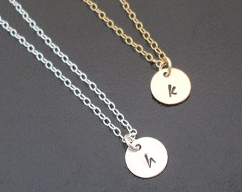 Set of 6 Personalized Bridesmaid Necklaces Set, Choose Gold Bridesmaid Necklace Gifts or Sterling Silver Bridemaid Necklaces